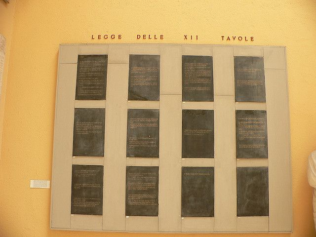 The Twelve Tables Of Rome: they were the foundation of Ancient Rome law. it was the centerpiece of the roman constitution.