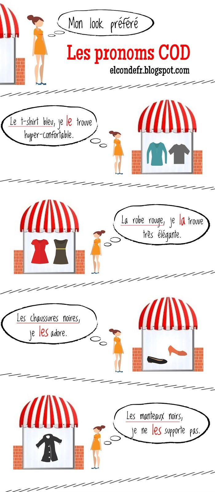 El Conde. fr: Comment utiliser les pronoms complément d'objet di...