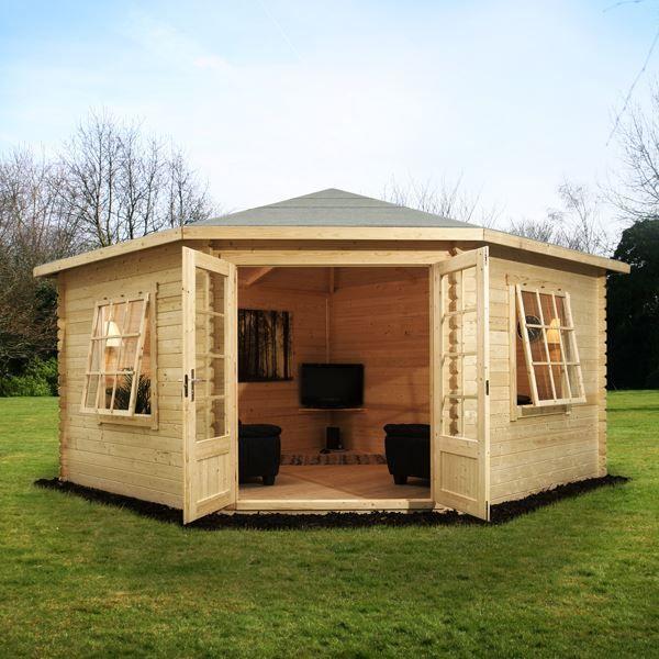 avon 4m x 4m somerset corner log cabin httpwwwsheds