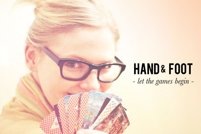 Hand And Foot Card Game. Wow what wonderful memories playing this game. Nana was a killer at this game. No body could beat her! Shuffle up and deal!