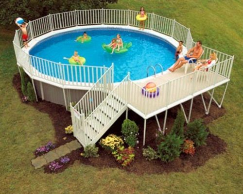 Above ground pool deck ideas deck ideas for above ground - Above ground swimming pools with deck ...