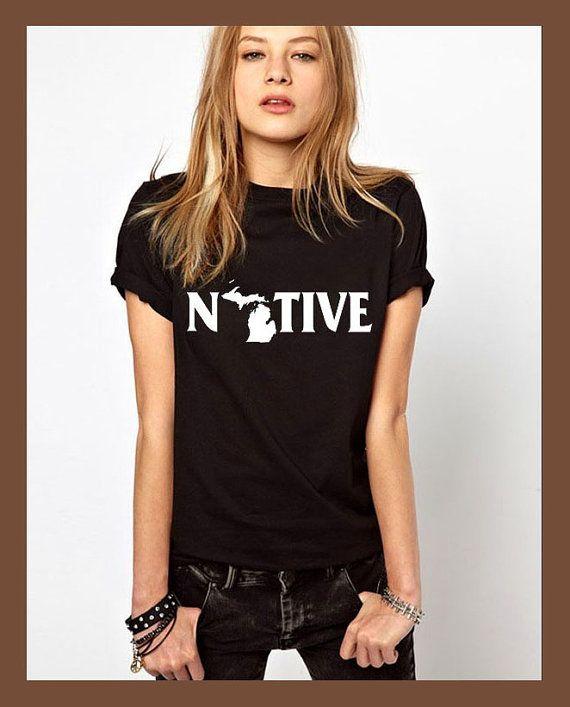 michigan shirt native shirt michigan tshirt by JLeishaStation