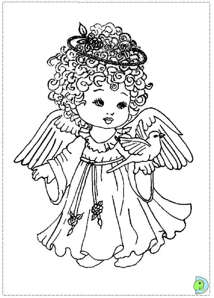 59 best angel color pages 1 images on Pinterest | Colouring pages ...