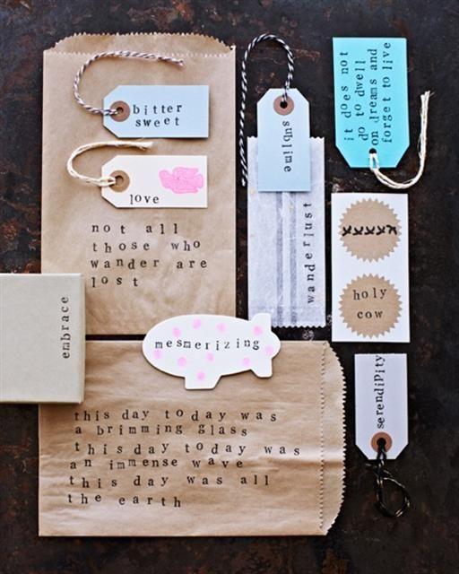 Easy Letter Stamping - Sweet Paul presents Lova's World
