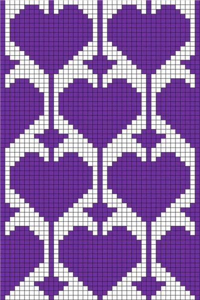 filet crochet with heart motif