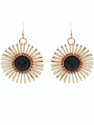 Padparadscha earrings by Anton Heunis, who incorporates salvaged materials into his designs. #ecofashion