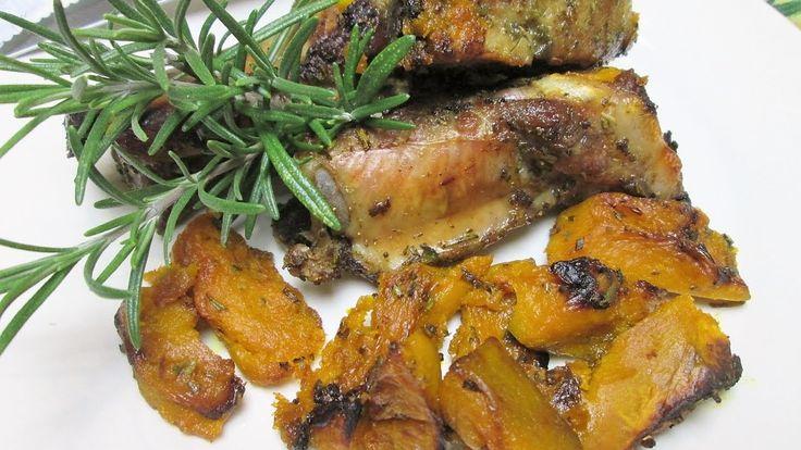Costelinha de porco assada ao forno com aboboras - #Receitasitalianas