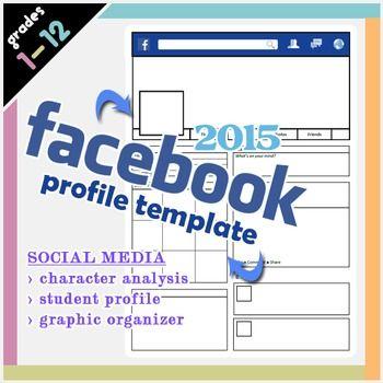 blank facebook profile template pdf