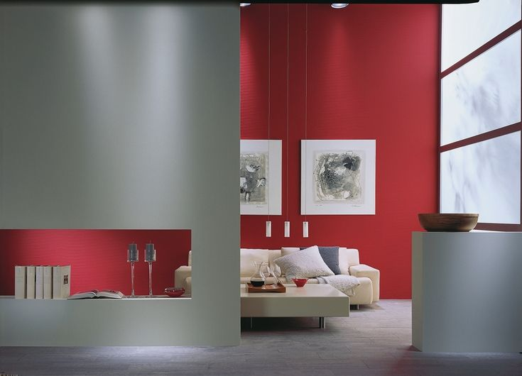 wohnzimmer in grau und rot ~ möbel inspiration und innenraum ideen, Modern dekoo
