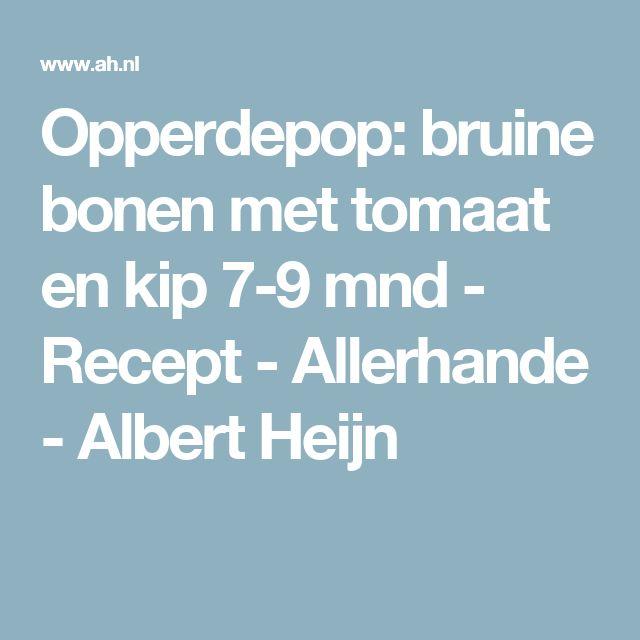 Opperdepop: bruine bonen met tomaat en kip 7-9 mnd - Recept - Allerhande - Albert Heijn