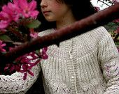 Soft alpaca wool sweater for girl