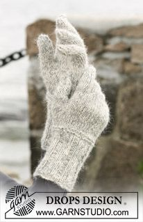 Ice Sparkles - Mittens in DROPS Alpaca and Vivaldi - Free pattern by DROPS Design