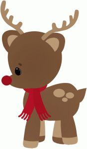 Silhouette Online Store - View Design #45419: christmas rudolph the reindeer
