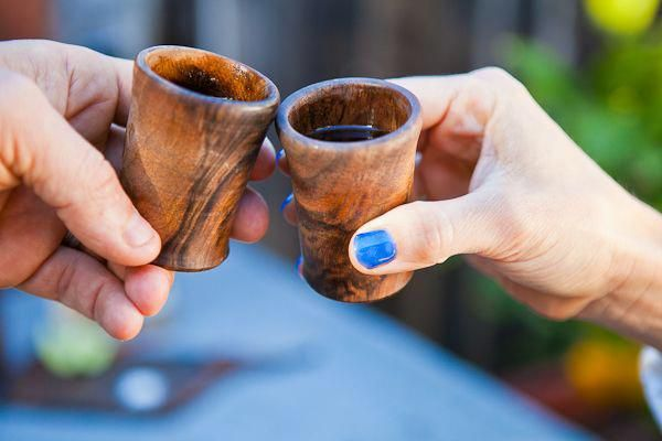 How to: Make DIY Wooden Shot Glasses
