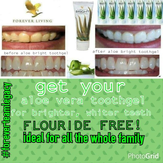Get your Aloe Bright Tootgel today! Flouride Free Ideal for all ages