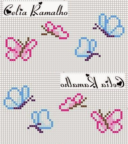 graficos ponto cruz borboletas - Pesquisa Google