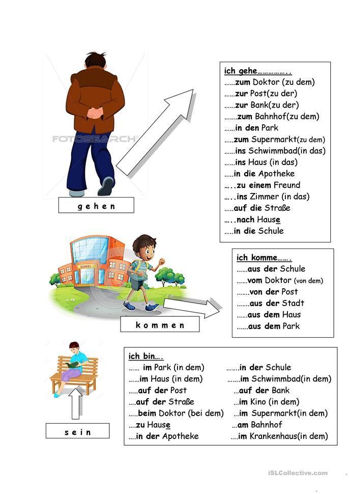 Ich Gehe Ich Komme Ich Bin Deutsch Daf Arbeitsblatter In 2020 Deutsch Lernen Deutsch Lernen Kinder Deutsch