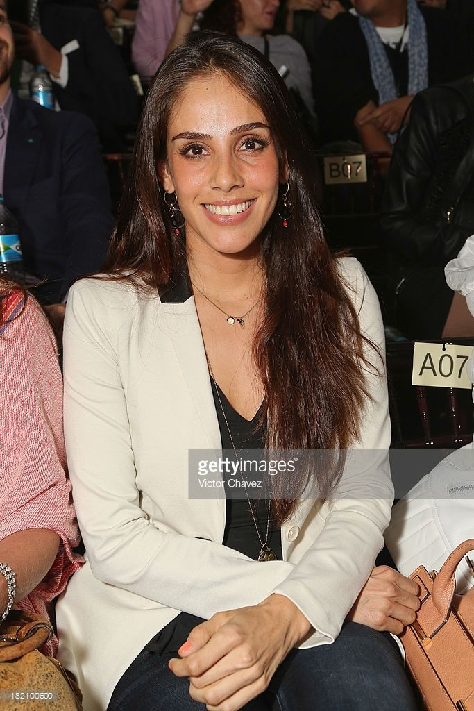 Actress Sandra Echeverria attends the third day of Mercedes-Benz Fashion Week Mexico Spring/Summer 2014 at Campo Marte on September 27, 2013 in Mexico City, Mexico.