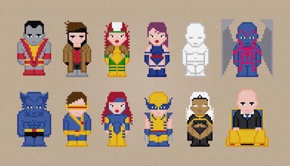X-Men - Digital PDF Cross Stitch Pattern