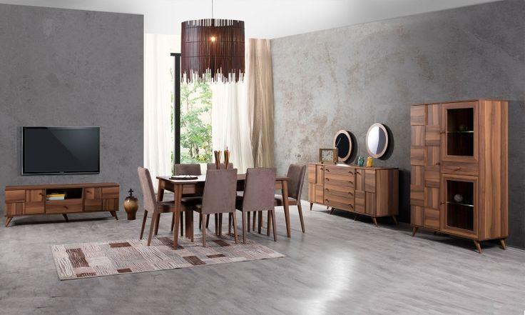 Reyona Yemek Odası benzersiz tasarımı ile yemeklerinize şıklık katmaya geliyor.  #yemekodası #yemekodasi #tarz #tarzmobilya #mobilya #mobilyatarz #furniture #interior #home #ev #dekorasyon #şık #işlevsel #sağlam #tasarım #konforlu #livingroom #salon #dizayn #modern #rahat #konsol #follow #interior #armchair #klasik #modern