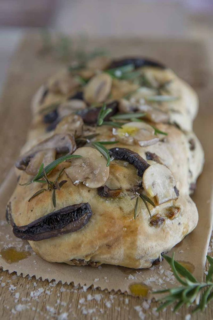 Mushroom, garlic and rosemary foccacia – A tasty spin on the usual, and full of