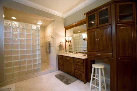 Bathroom Dream Home Pinterest Cherry Cabinets Bath