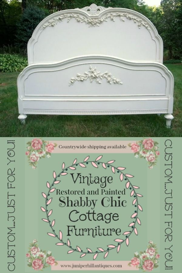 Painted Cottage Beds #paintedcottage #shabbychic #juniperhillanitiques #beds #vintagefurniture