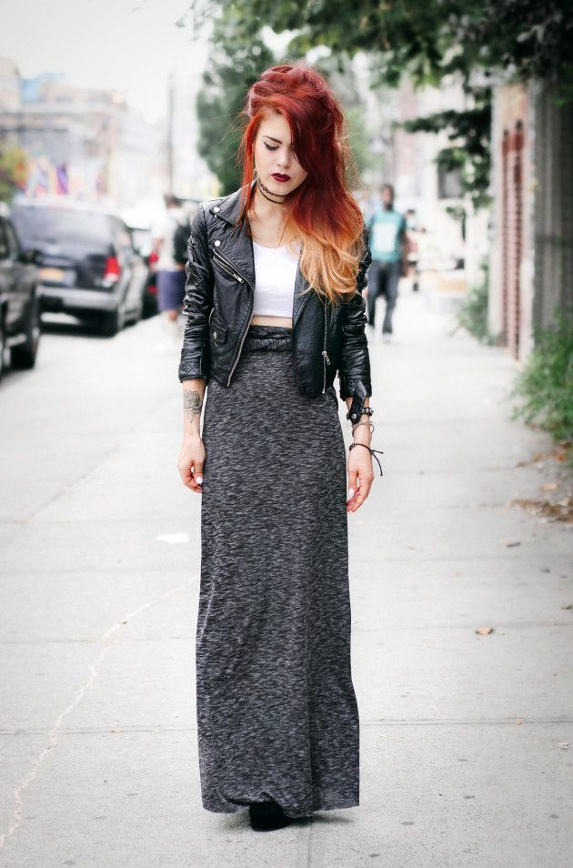 Top – ASOS Skirt – Similar here and here Jacket – Old/ Nasty Gal Tattoo choker – old/ Topshop...
