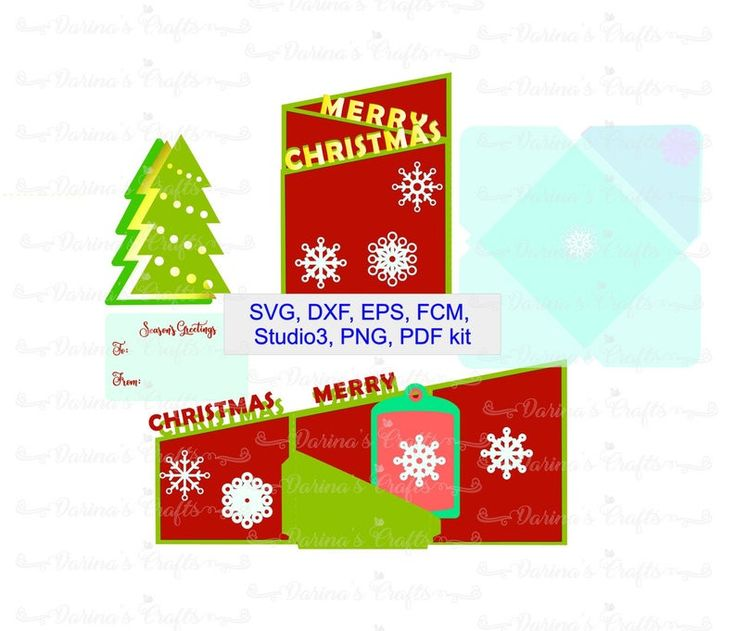 Merry Christmas Z fold Card template Christmas card SVG ...