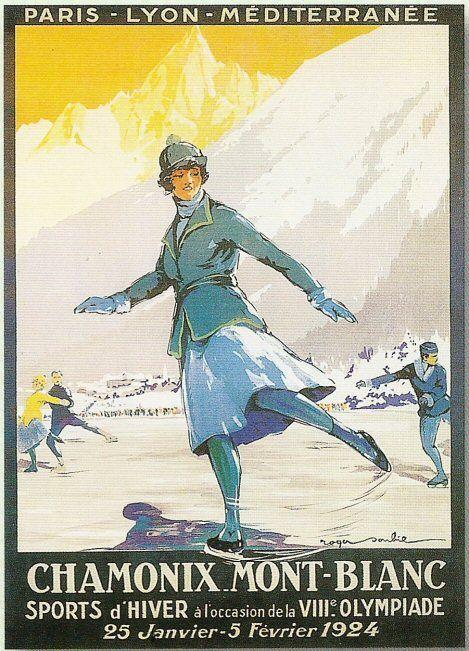 Vintage ice skating poster   Art: Sports   Vintage ski ...