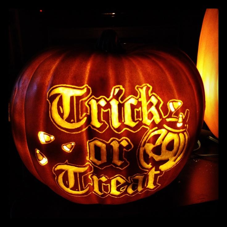 Trick or treat smaller foam pumpkin pattern from