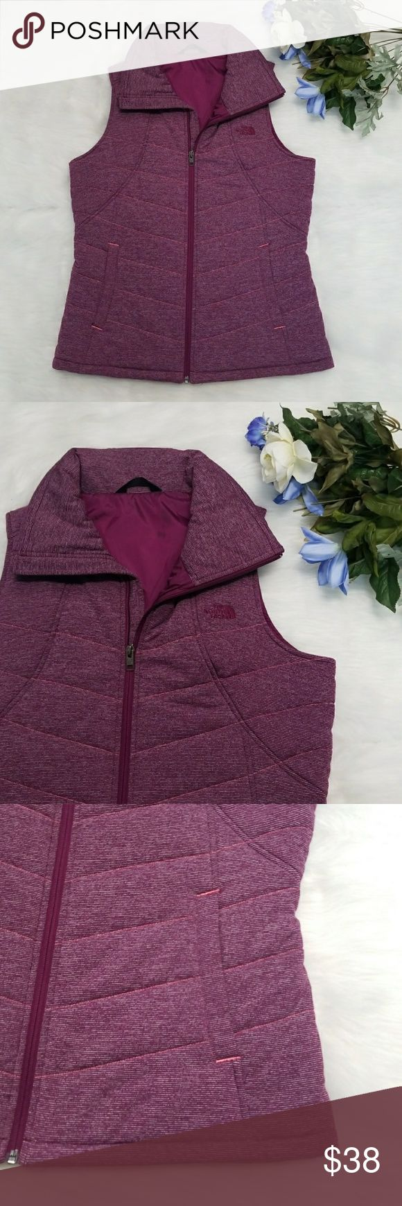The North Face Puffer Vest Excellent condition purple quilted puffer vest by the North face. Collared, zippered front, two side pockets The North Face Jackets & Coats Vests