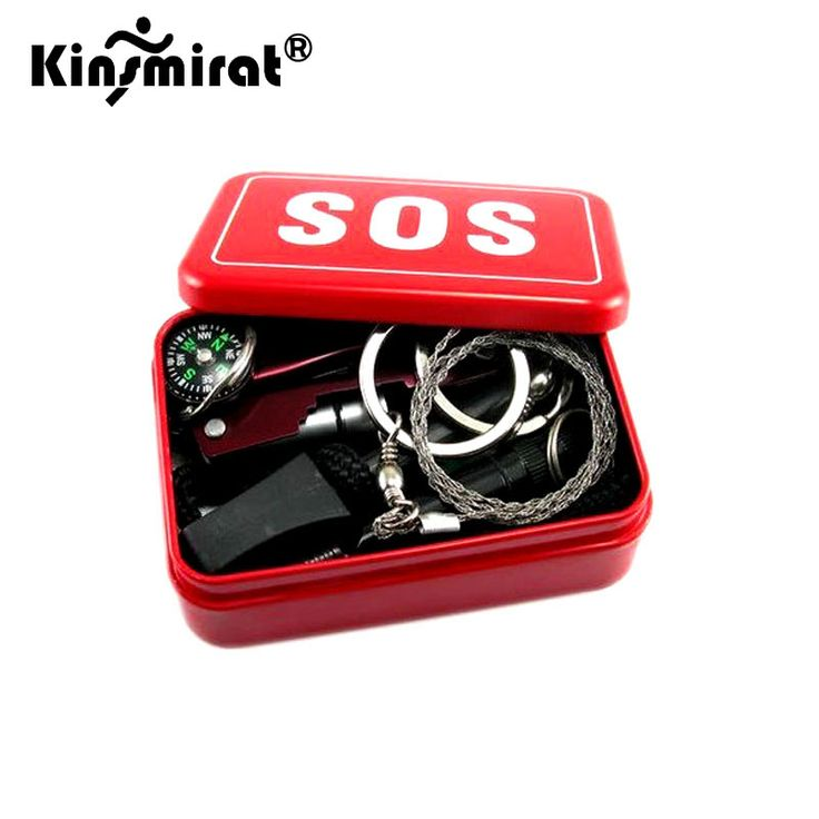 2017 Outdoor equipment emergency bag field survival box self-help box SOS equipment for Camping Hiking saw/fire free shipping