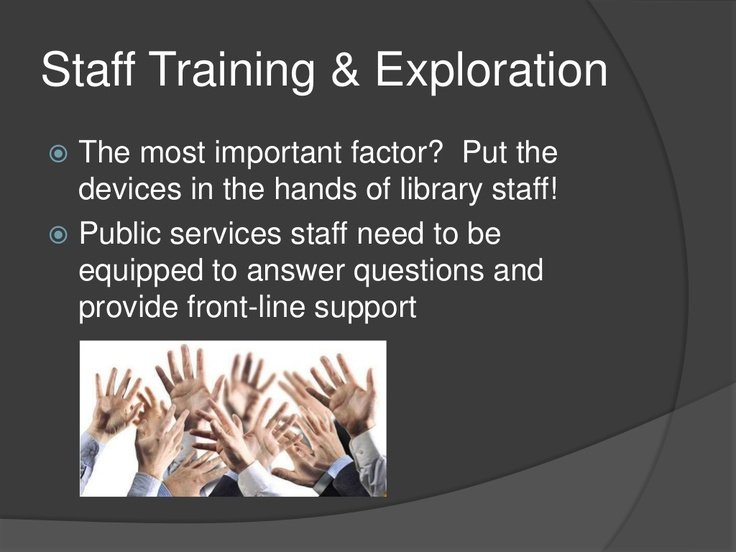 Integrating iPads and Tablets into Library Services Slideshow from workshop