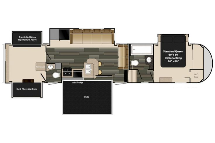 2 bedroom 5th wheel rv for sale 2 bedroom fifth wheel floo - 5th wheel campers with 2 bedrooms ...