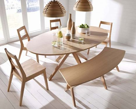 LPD Malmo White Oak Dining Table and 4 Chairs Set with Bench & 41 best Oval Dining Table Ideas images on Pinterest | Oval dining ...