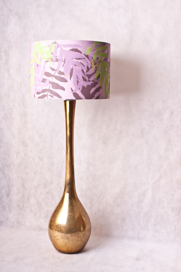 UNIQUE printed lampshade and the mirror lamp justynamedon for red poppy