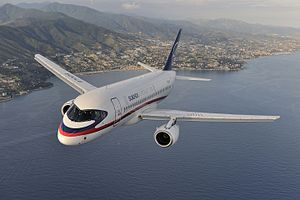 The Sukhoi Superjet 100 (Russia), is a modern fly-by-wire twin-engine regional jet with 8 (VIP)[9] to 108 (all economy) passenger seats.