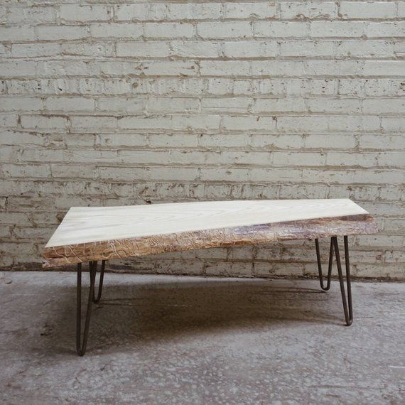 Live Edge Coffee Table Diy: Ash Live Edge Coffee Table In 2019