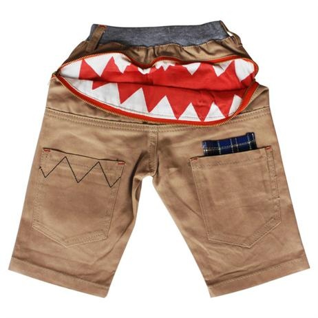 Hootkid Bite Me Shorts      Price: $39.95     Fun and funky the Bite Me Short has it all! Features elastic waist (easy for little hands to get on and off) low pockets, eye embroidery & of course the zip, when opened, shows big jaws - FUN FUN FUN! Tough enough for any little Hootkid!  http://www.littlebooteek.com.au/categorylist.aspx
