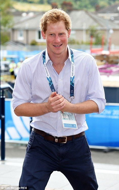 Prince Harry returned to the Commonwealth Games in Glasgow today, where he is expected to watch athletics