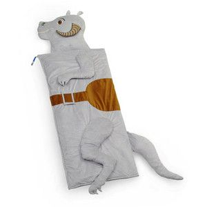 "The best part of this Taun Taun sleeping bag is the ""intestine-print"" interior fabric."