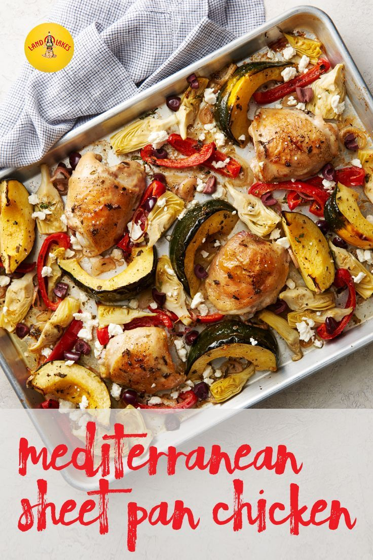 Prep it and forget it! Our Mediterranean Sheet Pan Chicken is a quick and delicious dinner, ready with a minimum amount of fuss.