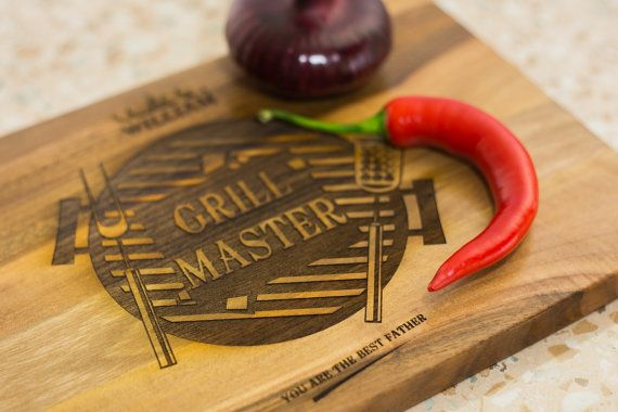 Fathers day gift, gift for dad, Unique Gift for husband, Grill gifts, Personalized Cutting Board, for Chef, gift for him