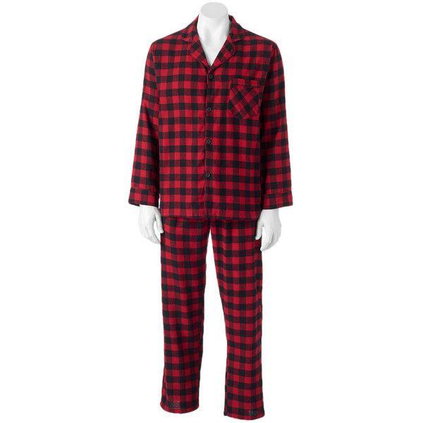 Men's Hanes Ultimate Plaid Flannel Pajama Set ($33) ❤ liked on Polyvore featuring men's fashion, men's clothing, men's sleepwear, lt beige, mens clothing, mens flannel sleepwear, men's flannel pajama sets and men's apparel