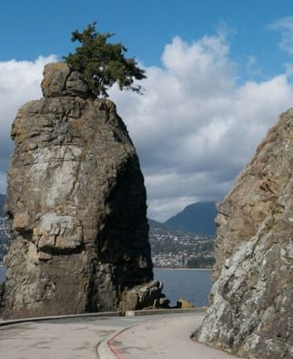 Siwash Rock. One Day in Vancouver http://solotravelerblog.com/one-day-in-vancouver-food-ferries-and-a-promenade/