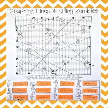 Graphing Lines & Zombies ~ Slope Intercept Form | School ...