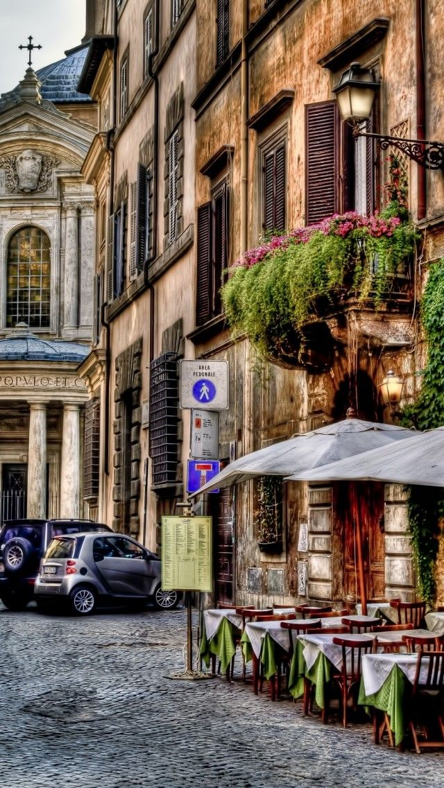 Street Cafe in Rome, Italy