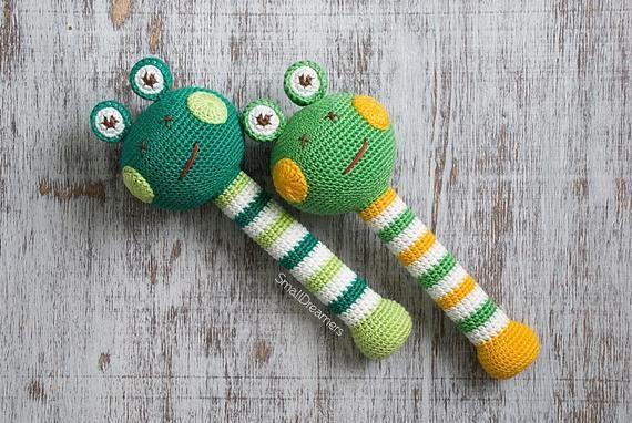 Dinosaurier Baby Spielzeug häkeln Beißring Rassel