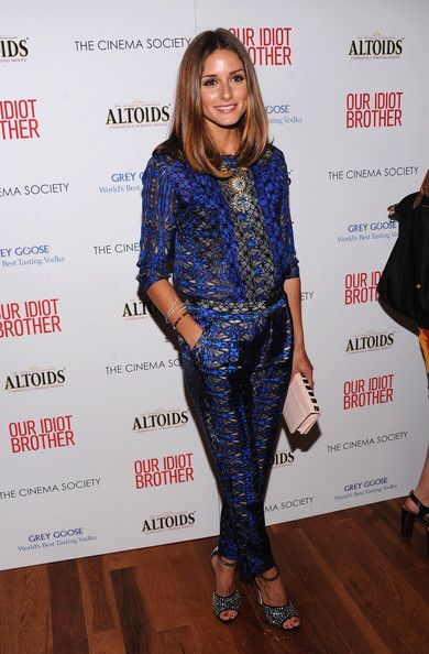LOVE this printed Tibi blouse-pant look from Olivia Palermo.  Just beautiful.